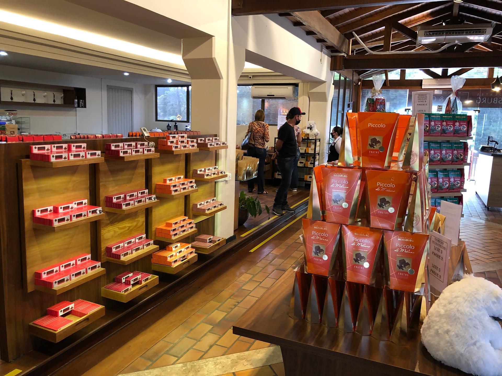Loja na fabrica de chocolates Weissburg